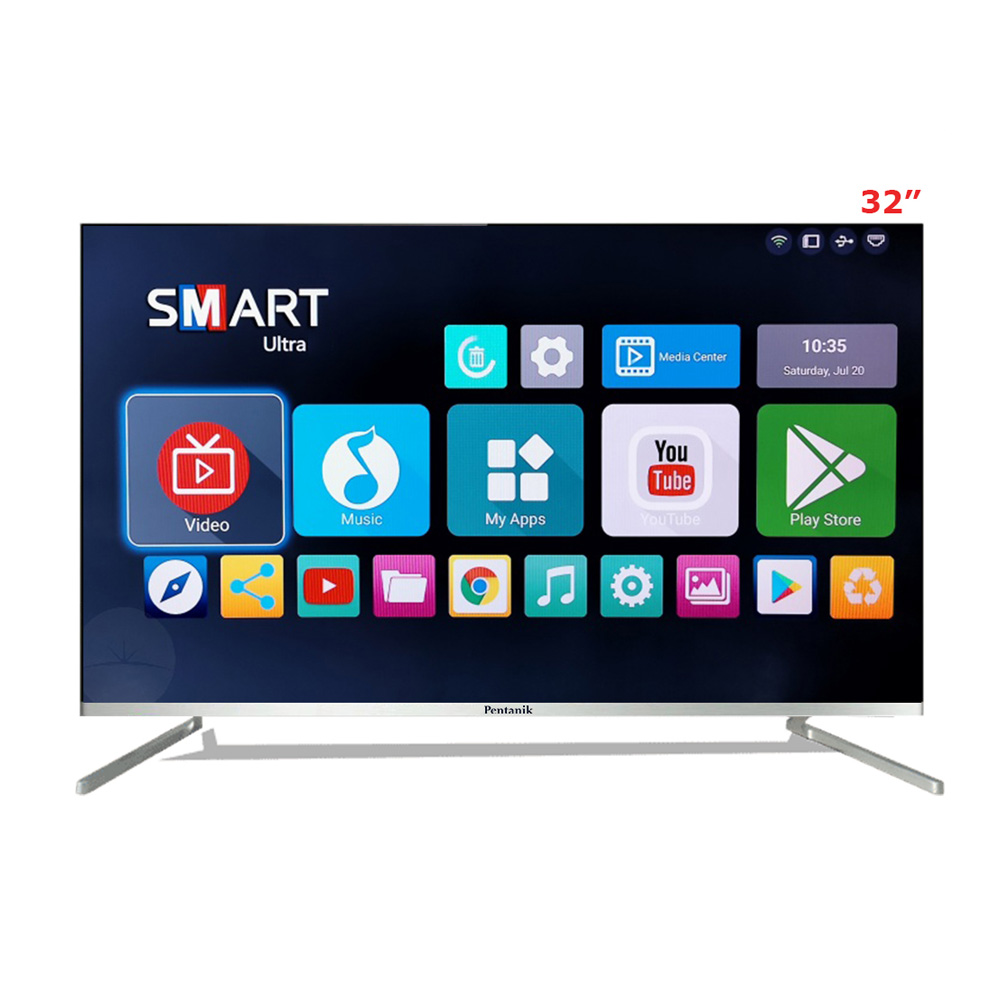32 inch smart tv Pentanik 32 Inch Borderless Smart Android TV (Special Edition 2020)